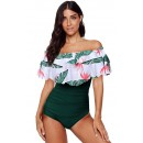 Sexy Off-Shoulder Ruffle One-Piece Bikini