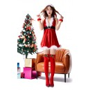 V-Neck Sexy Halter Christmas Mini Skirt