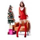 Sexy Bandage One-Piece Christmas Skirt