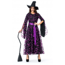 Purple Mesh Witch Adult Costume