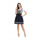 Oktoberfest Costume O Neck Puff Sleeve Knee-Length Dress