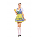 Oktoberfest Dirndl Dress Short Sleeve Mini Dress