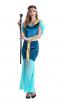 Blue Womens Egypt Goddess Halloween Costume