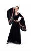 Halloween Costume Printing Retro Court Hooded Dress