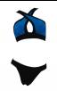 Herve Leger Bandage Dresses Halter Bandage Bikini Blue Black