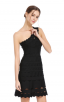 Herve Leger Bandage Dress One Shoulder A Line Lace Black