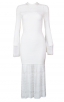 Herve Leger Bandage Dress Long Sleeve Lace White