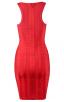 Herve Leger Delana Metallic Twist Bandage Dress