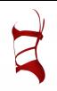Herve Leger Bandage Bikini Cutout Red