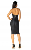 Herve Leger Bandage Dress Metallic Halter V Neck Backless Black