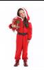 Party Homewear Kids Coral Velvet Christmas Jumpsuit