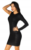 Herve Leger A Long Sleeve Black Bandage Dress