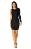 Herve Leger A Long Sleeve Black Bandage Dress