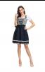 Oktoberfest Costume O Neck Puff Sleeve Knee-Length Dress