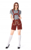 Bavarian Beer Suit Short Sleeve Suspender Suit