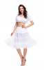 Womens White Top Oktoberfest Fraulein Costume