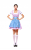 Womens Short Multicolor Dress Oktoberfest Fraulein Costume
